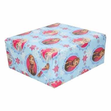 Frozen geschenkpapier blauw