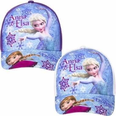 Frozen kinder petten paars