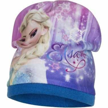 Frozen muts elsa blauw voor meiden