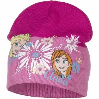 Frozen muts roze elsa en anna voor meiden