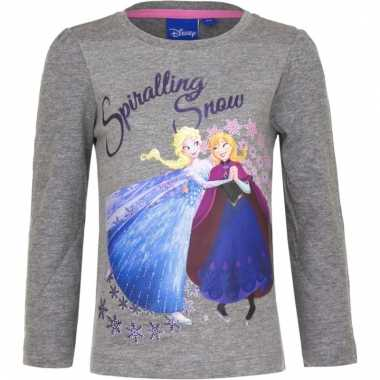 Frozen shirt lange mouw grijs voor meiden