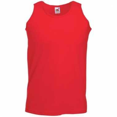 Fruit of the loom rode heren singlet mouwloos shirt