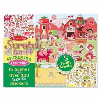 Fruit stickers met geur 220 stuks
