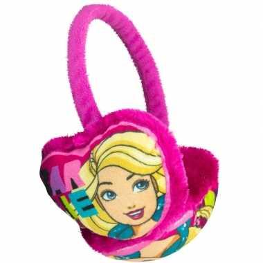 Fuchsia barbie oorwarmers voor meisjes