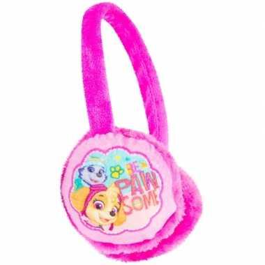 Fuchsia paw patrol oorwarmers voor meisjes