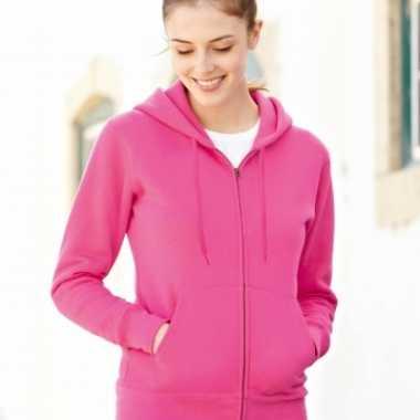 Fuchsia roze getailleerd vest voor dames