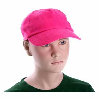 Fuchsia roze kleur kinder caps