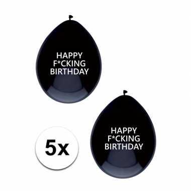 Fuck verjaardagsballonnen 5 stuks
