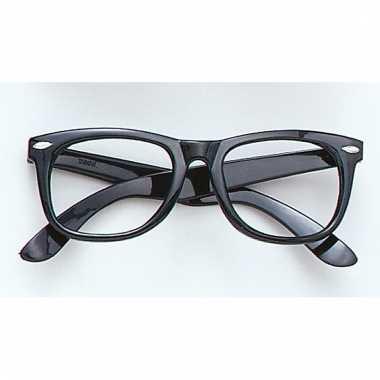 Fun bril zonder glazen zwart