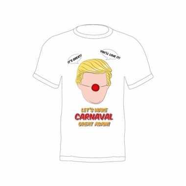Fun trump verkleedshirt make carnaval great again voor volwassenen