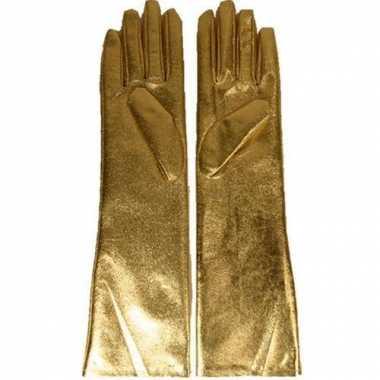 Gala handschoenen goud dames