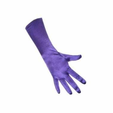 Gala handschoenen paars van satijn