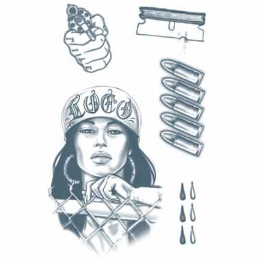 Gangster tattoo set 1 vel