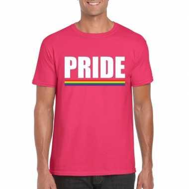 Gay pride homo shirt roze pride heren