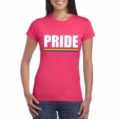 Gay pride lesbo shirt roze pride dames