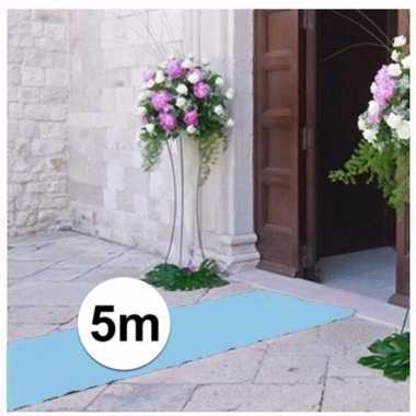 Geboorte artikelen jongen lichtblauwe lopers 5x1 meter breed