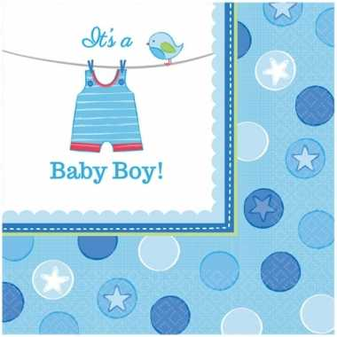 Geboorte jongen servetten its a baby boy