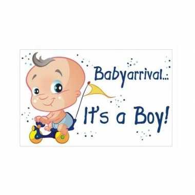 Geboorte versieringsbord jongen 35 x 55 cm