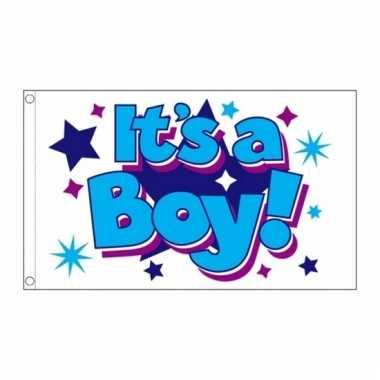 Geboorte vlag jongen 90 x 150 cm