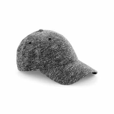 Gebreide cap grijs one size