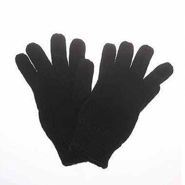 Gebreide winter handschoenen zwart