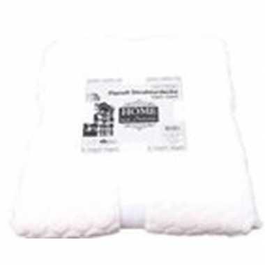 Gebroken witte nepbont/pluche grote deken/plaid 150 x 200 cm