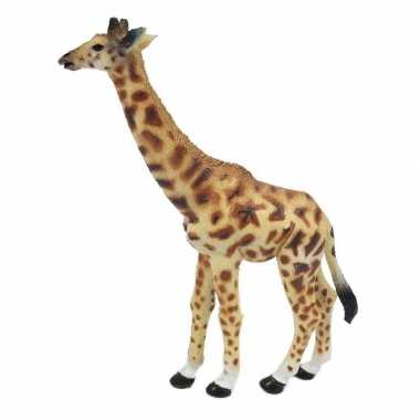 Geel/bruine speelgoed giraf 15 cm
