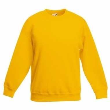 Geel katoenen sweater zonder capuchon voor meisjes