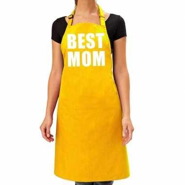Geel keukenschort best mom voor dames