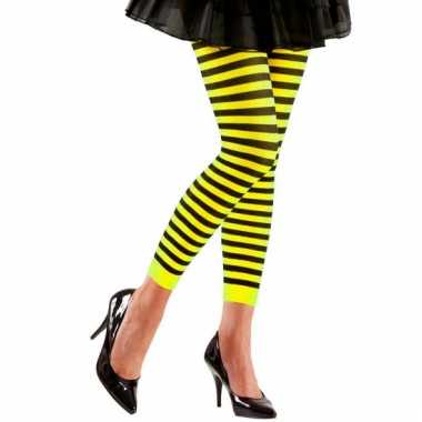 Geel met zwarte dames legging