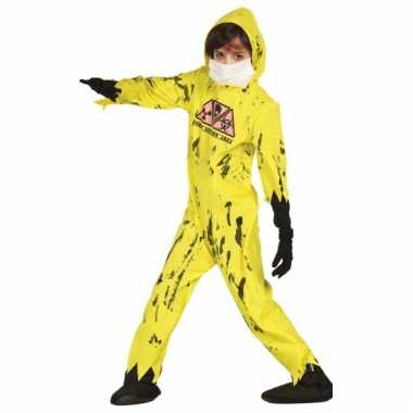 Geel nuclear zombie kostuum voor kinderen