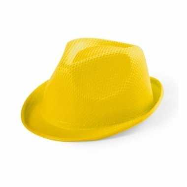 Geel verkleed hoedje voor kinderen