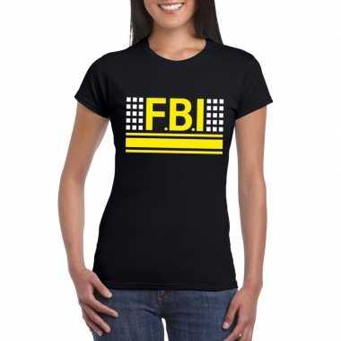 Geheim politie agent shirt zwart voor dames