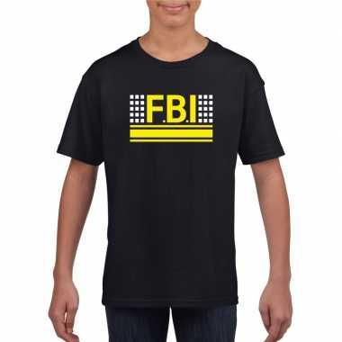 Geheim politie agent shirt zwart voor kinderen