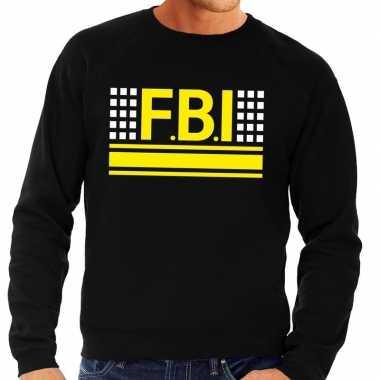 Geheim politie agent sweater / trui zwart voor heren