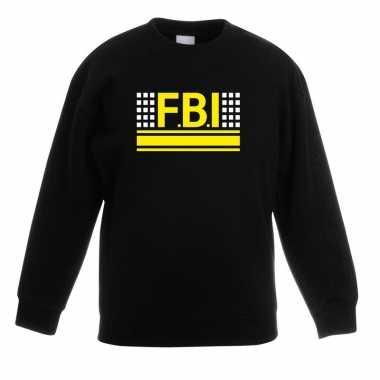 Geheim politie agent sweater / trui zwart voor kinderen