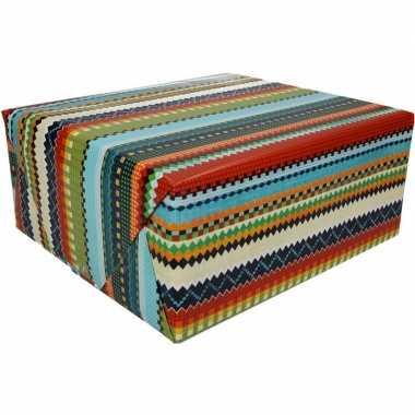 Gekleurd cadeaupapier 70 x 200 cm type 3