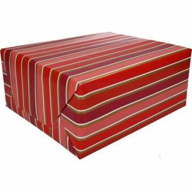 Gekleurd cadeaupapier met strepen 70 x 200 cm type 7