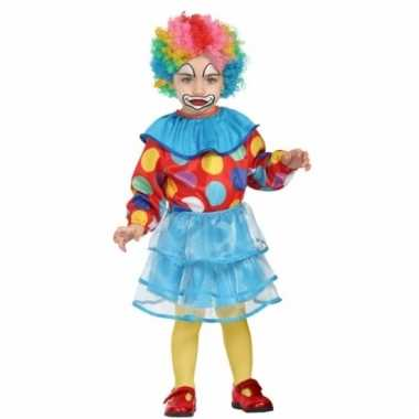 Gekleurd clown pakje voor meisjes