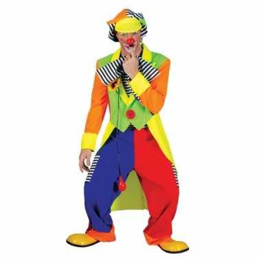 Gekleurd clownspak voor heren