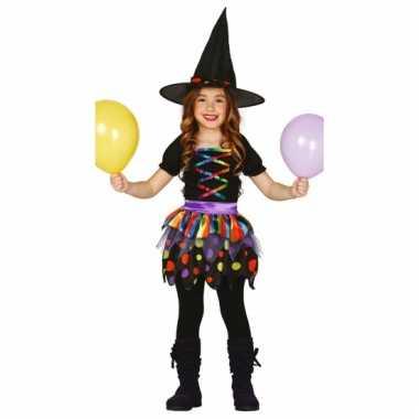 Gekleurd heksen jurkje voor meisjes