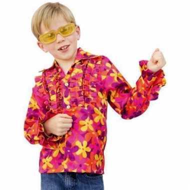 Gekleurd hippie shirts voor kinderen