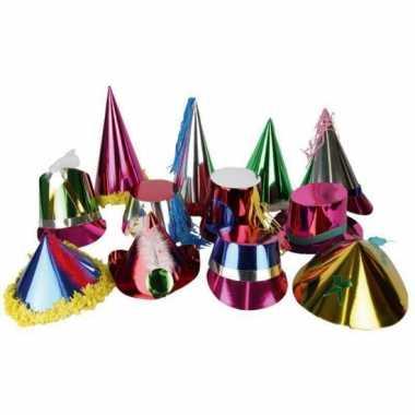 Gekleurd metallic hoedje van papier