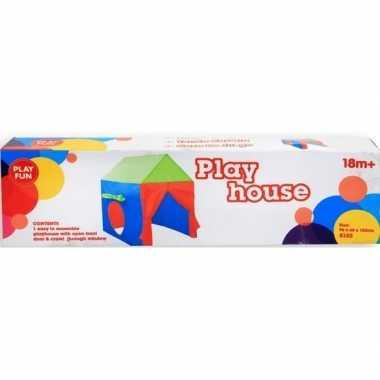 Gekleurd speelhuisje voor kinderen 96 cm
