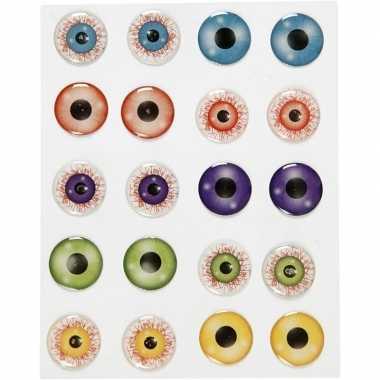 Gekleurde 3d ogen/oogjes stickervel