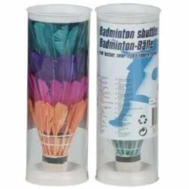 Gekleurde badminton setje shuttles
