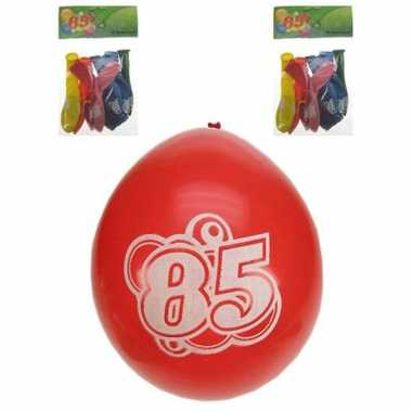 Gekleurde ballonnen 85 jaar