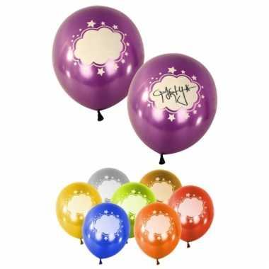 Gekleurde ballonnen met tekstveld