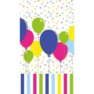 Gekleurde ballonnen tafelkleden/tafellakens 120 x 180 cm papier/texti