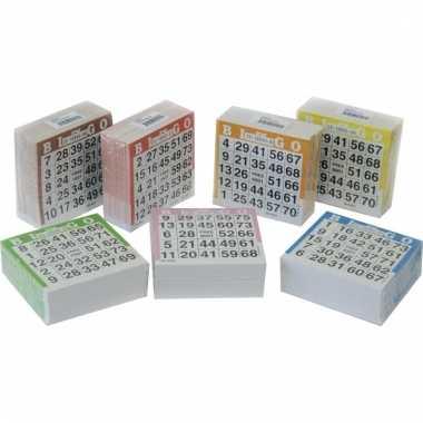 Gekleurde bingo kaarten 1-75
